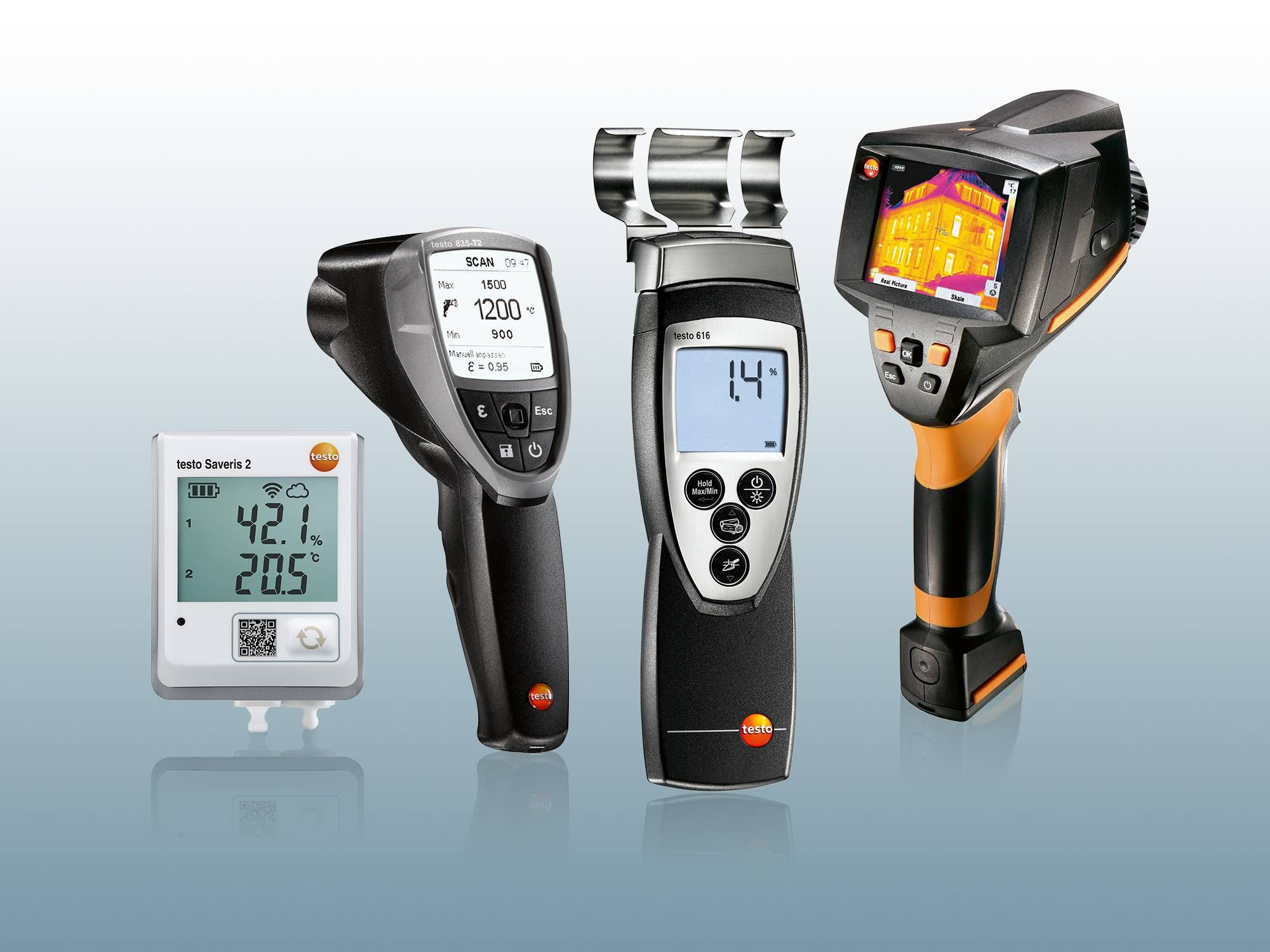 further moisture meters from Testo
