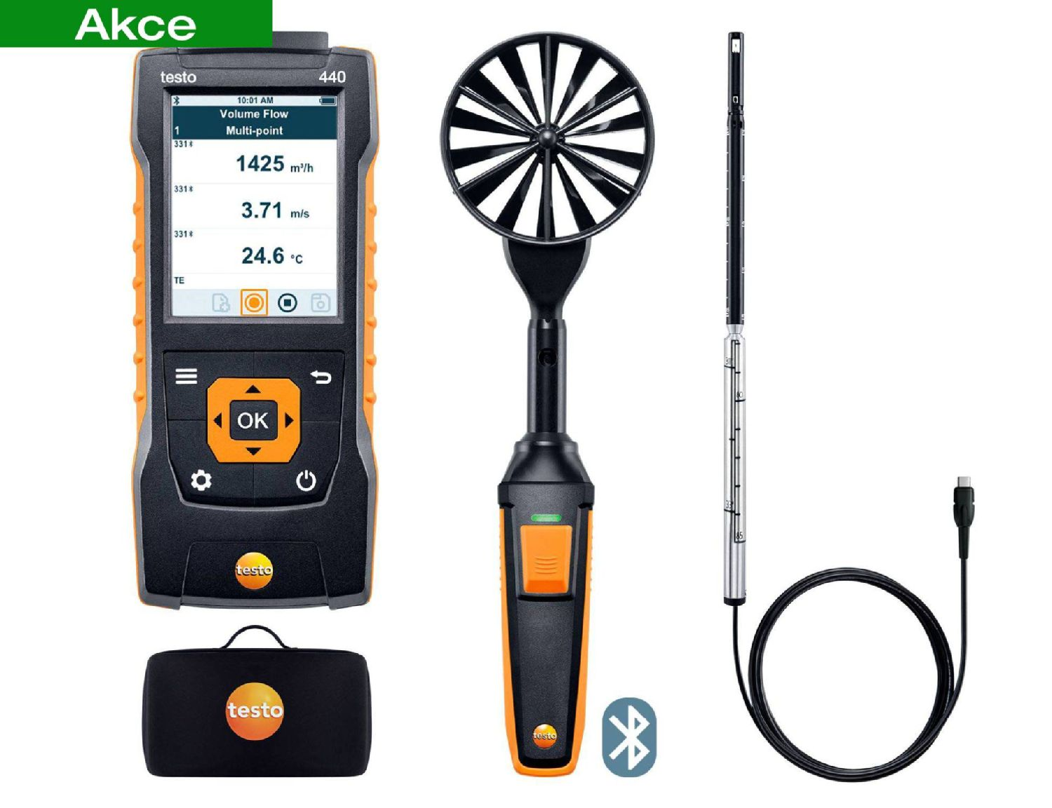 testo 440 Air Flow ComboKit 1 with Bluetooth®t 1 with Bluetooth