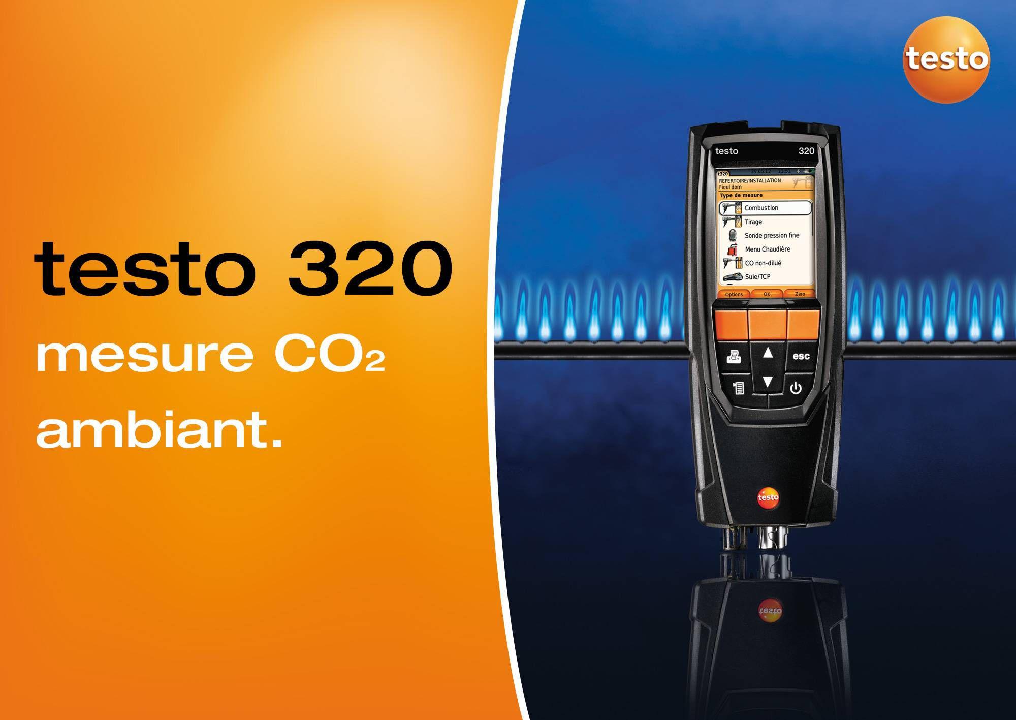 tutoriel vidéo mesure CO2 ambiant testo 320