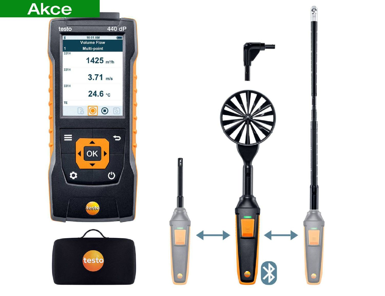 testo 440 Delta P Air Flow ComboKit 2 with Bluetooth®