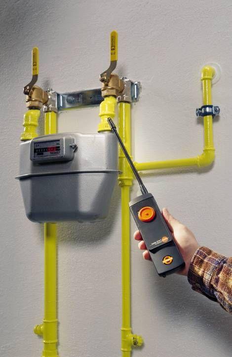 Medición de fugas de gas con el testo 316-1