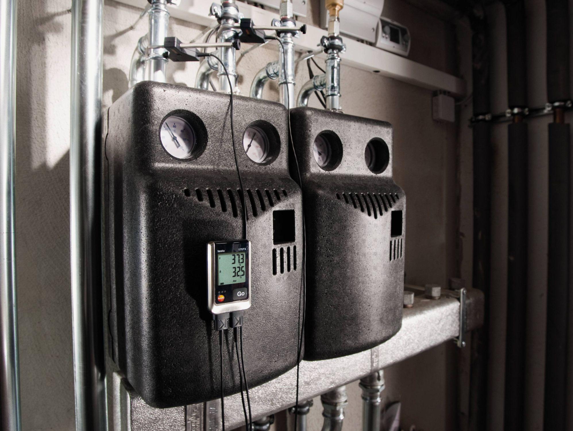 Использование логгера TESTO 176 t3 для записи температуры в системе отопления