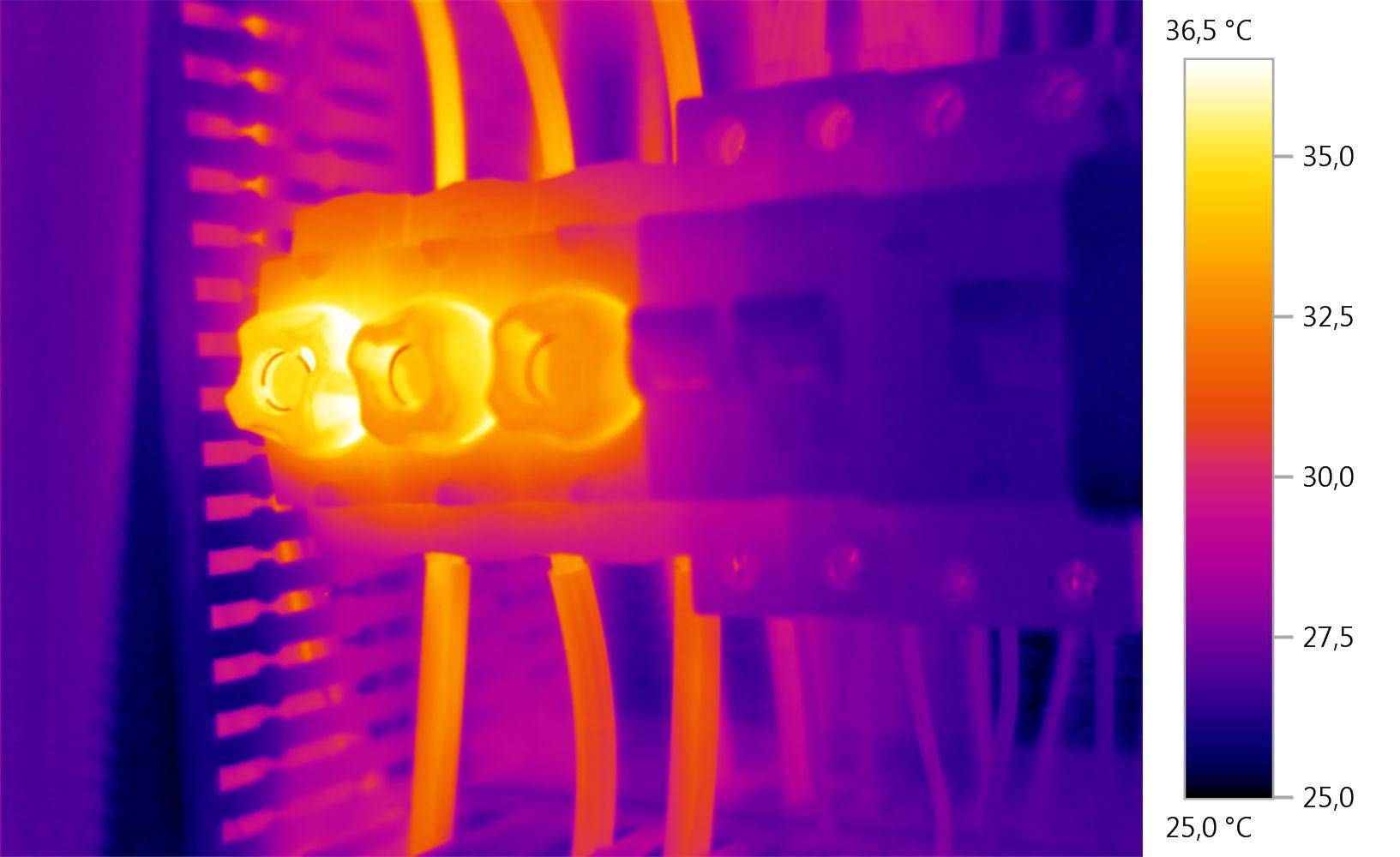 Thermal image for thermography in a control cabinet