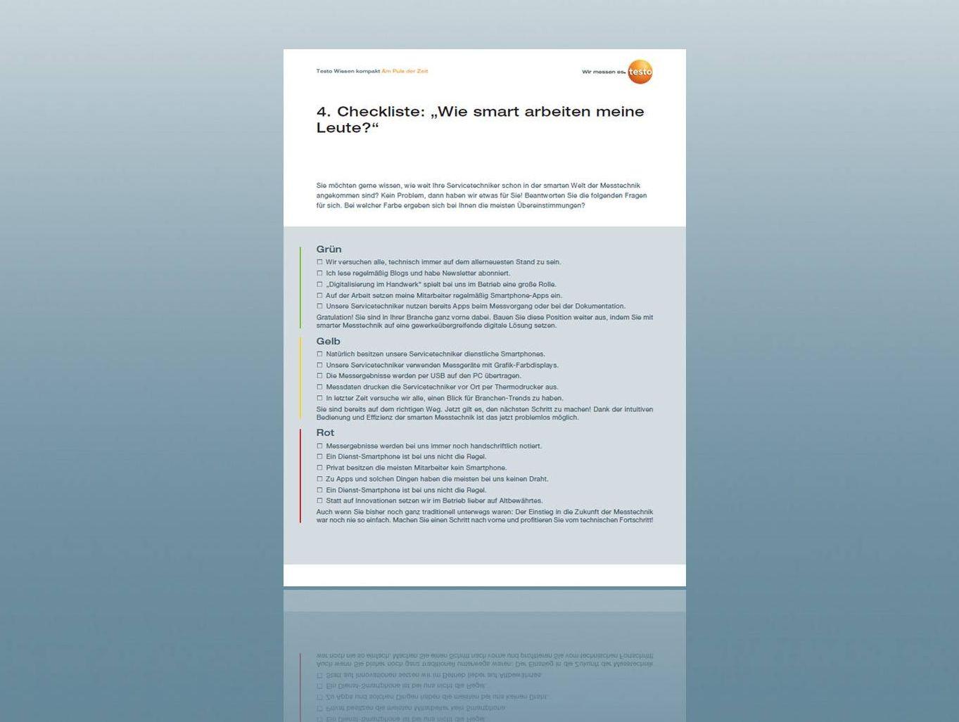 Checkliste Wie smart arbeiten meine Leute zum Download