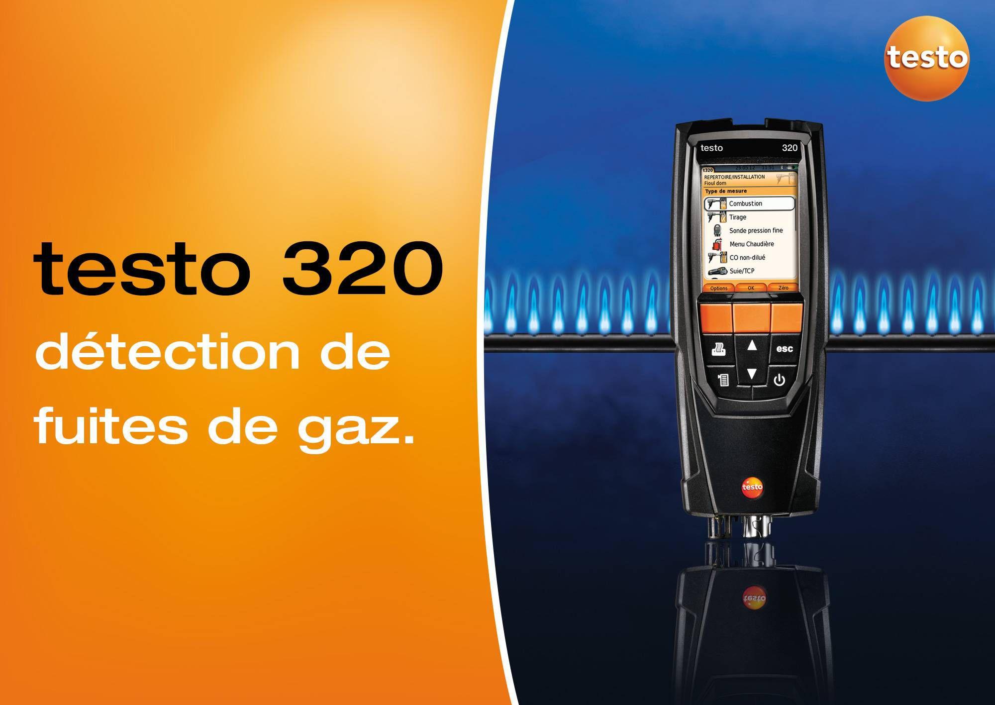 tutoriel vidéo détection fuite de gaz testo 320