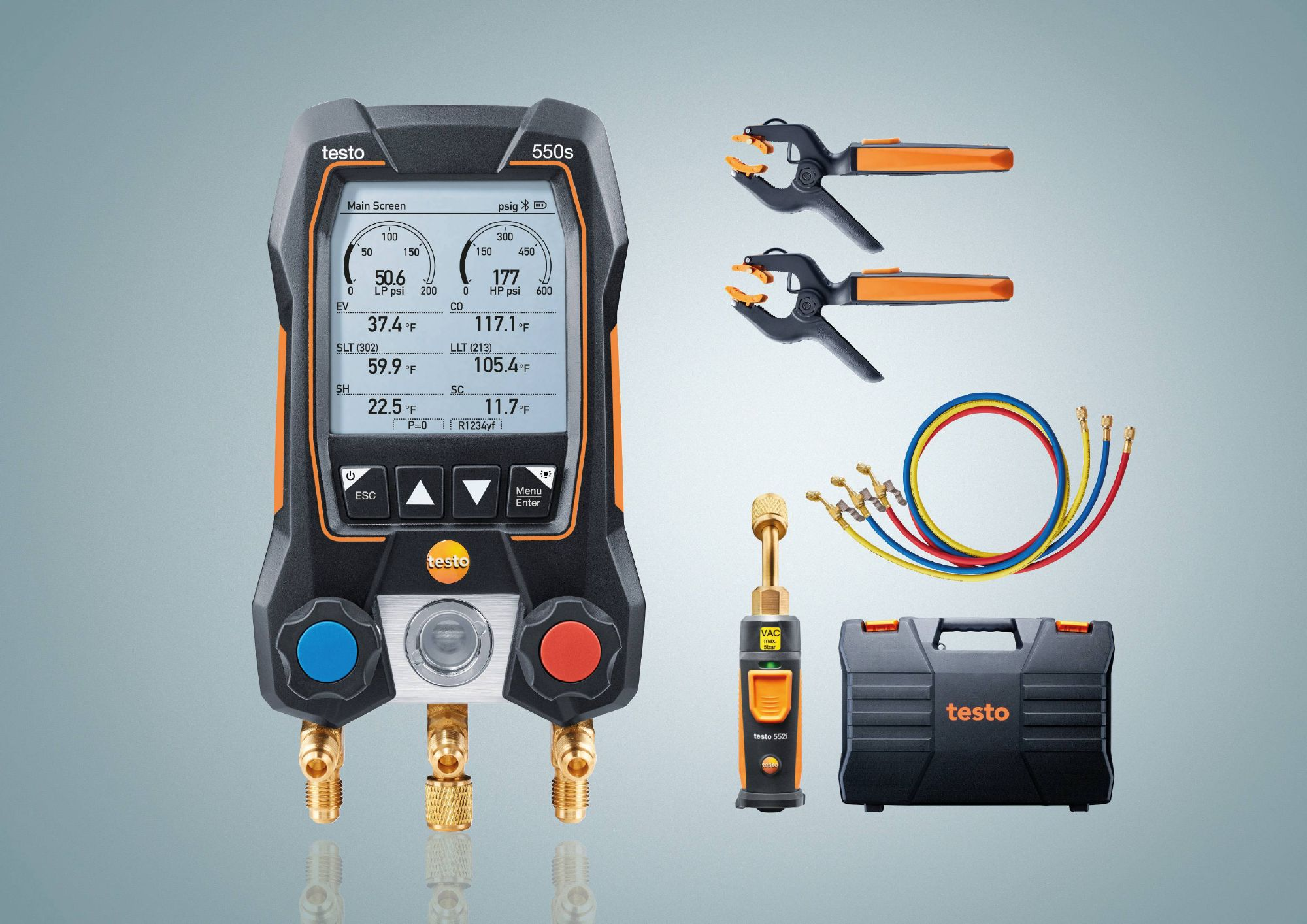 testo 550s Smart Vacuum Kit with hoses