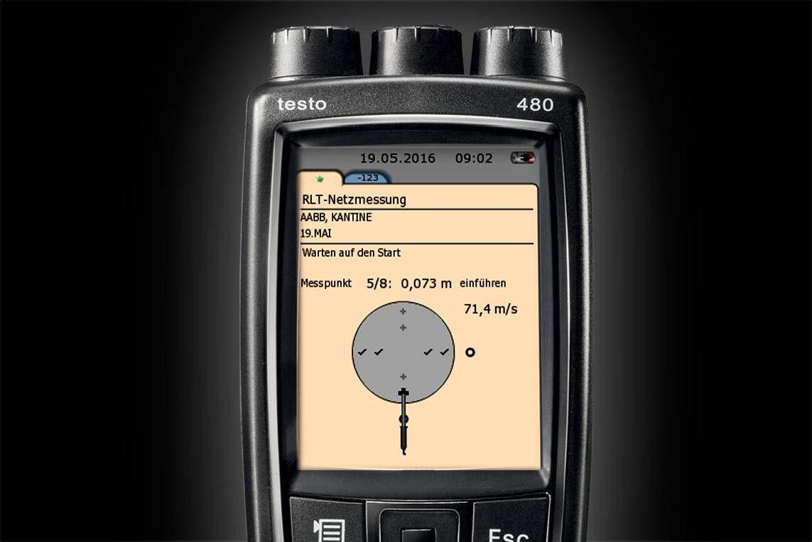 RLT-Netzmessungen mit testo 480