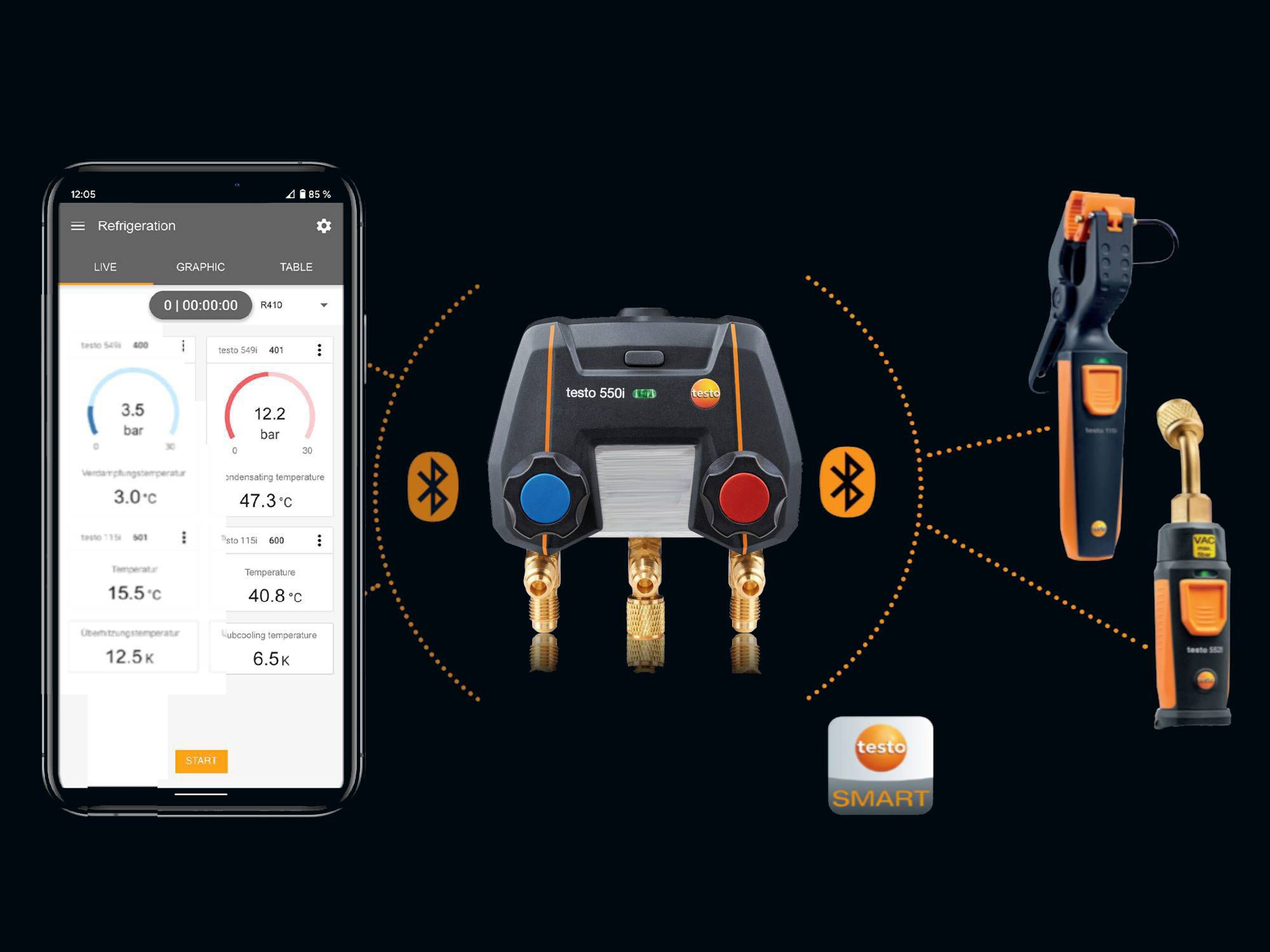 testo Smart App, testo 550i, testo 552i