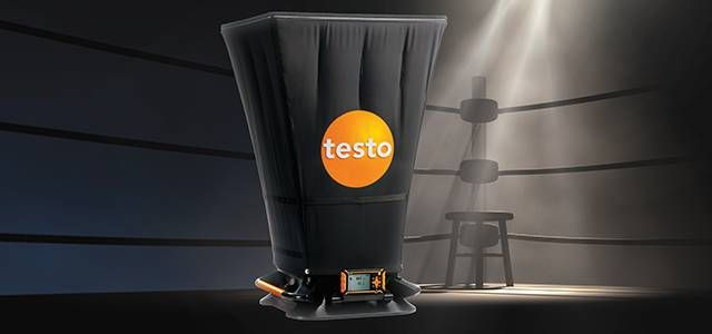 Volume flow hood testo 420 for determining volume flow
