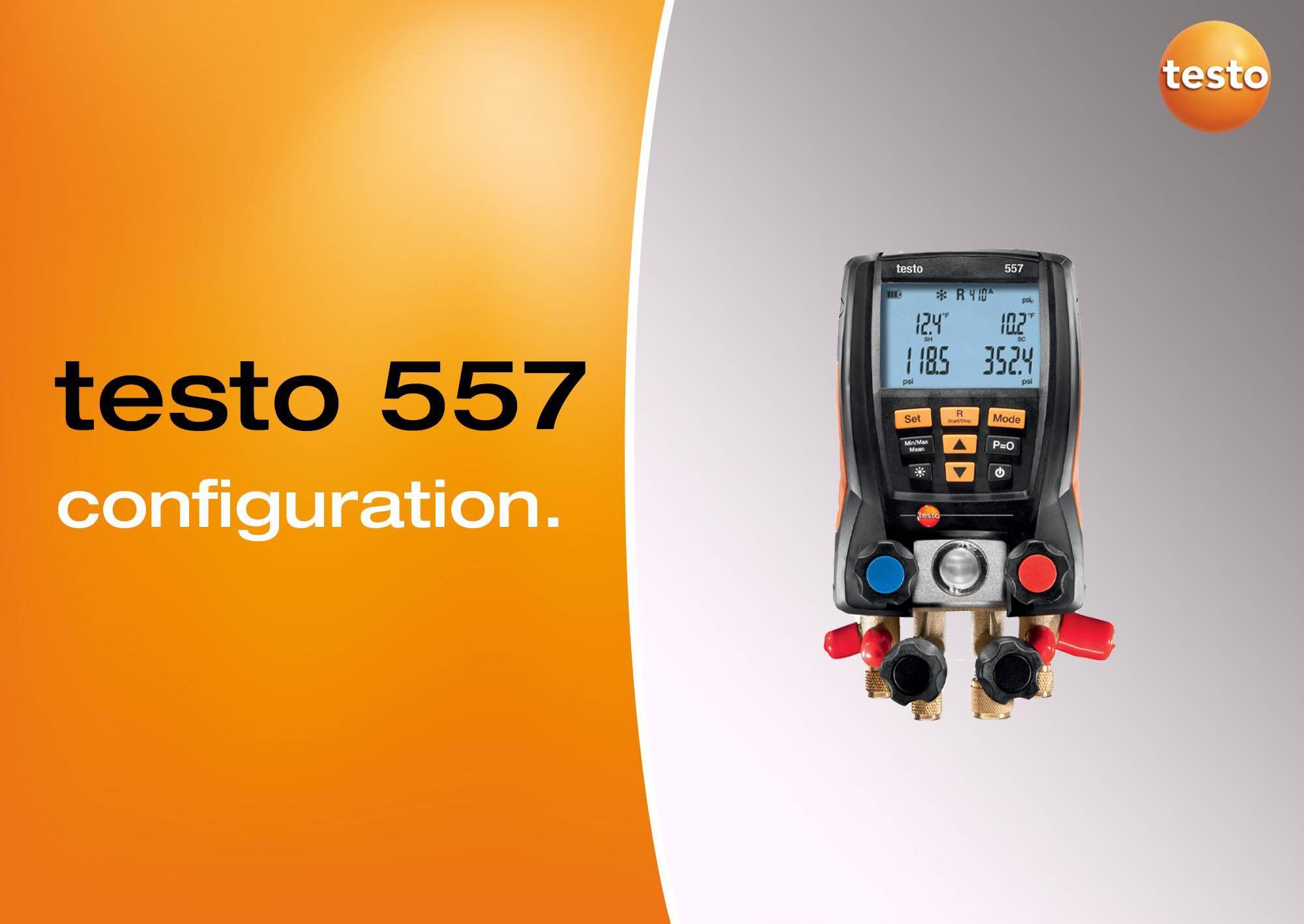 Tutoriel vidéo configuration manomètre testo 557
