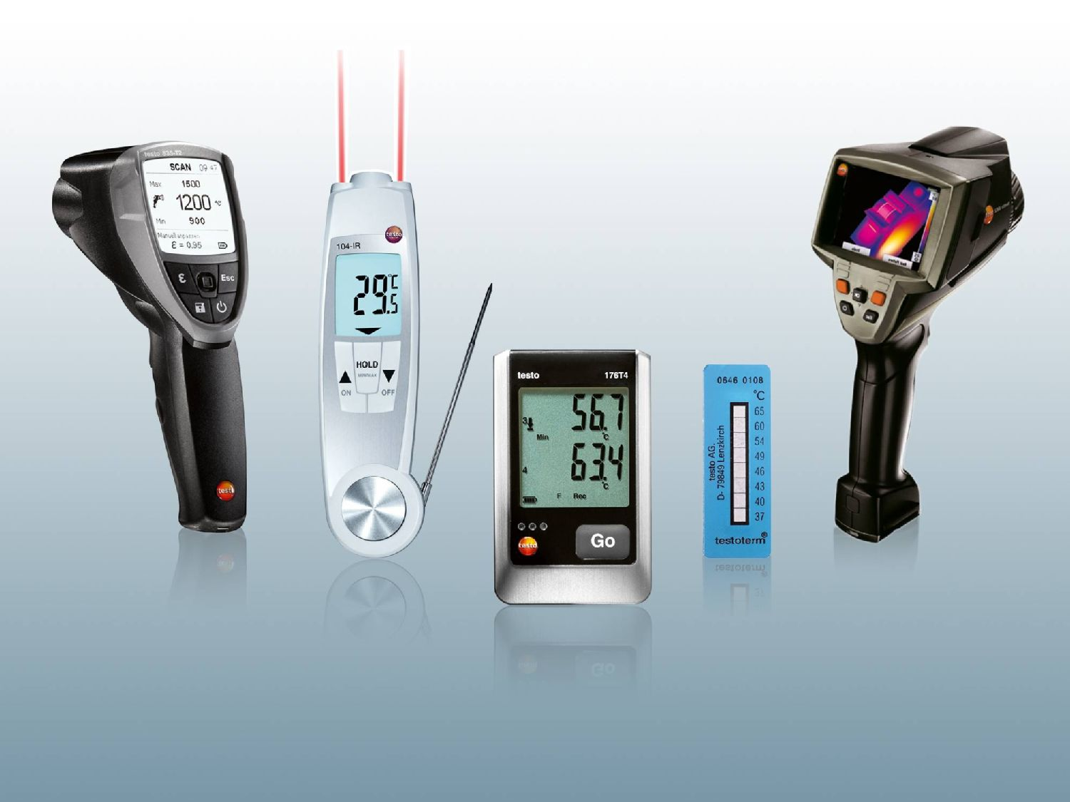 variety of products at Testo