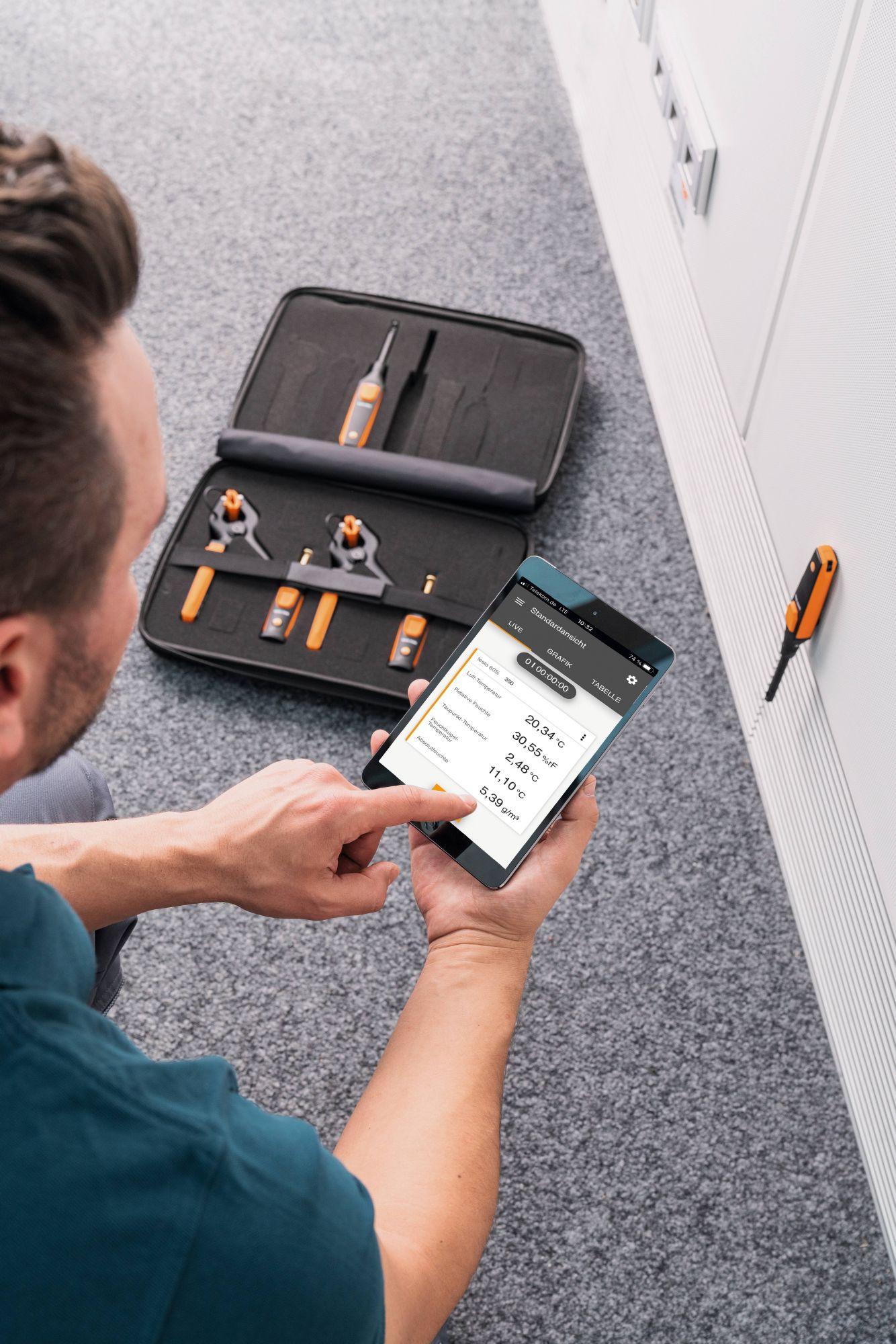 Anwendung testo Smart Probes