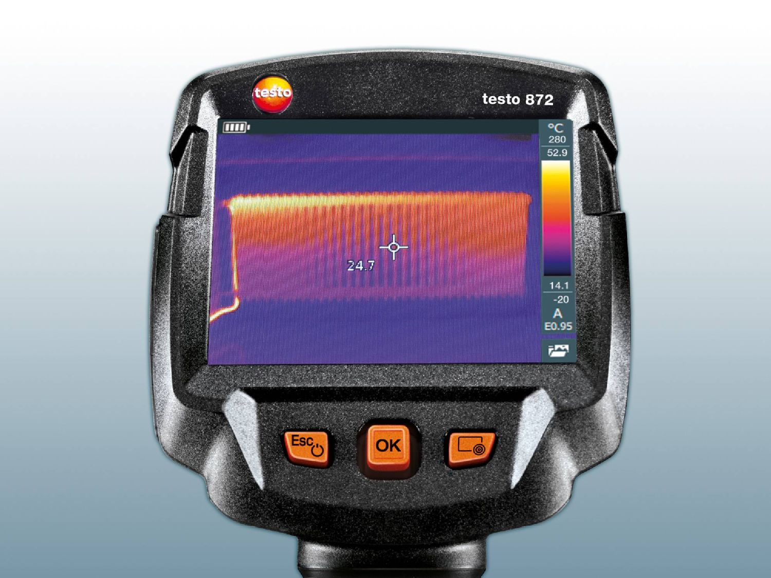 Heating thermography