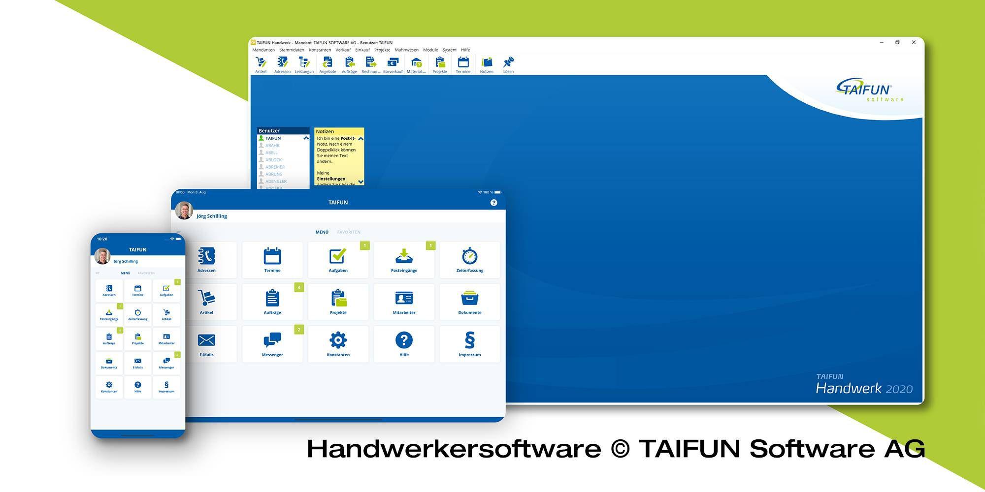 Handwerkersoftware © TAIFUN Software AG