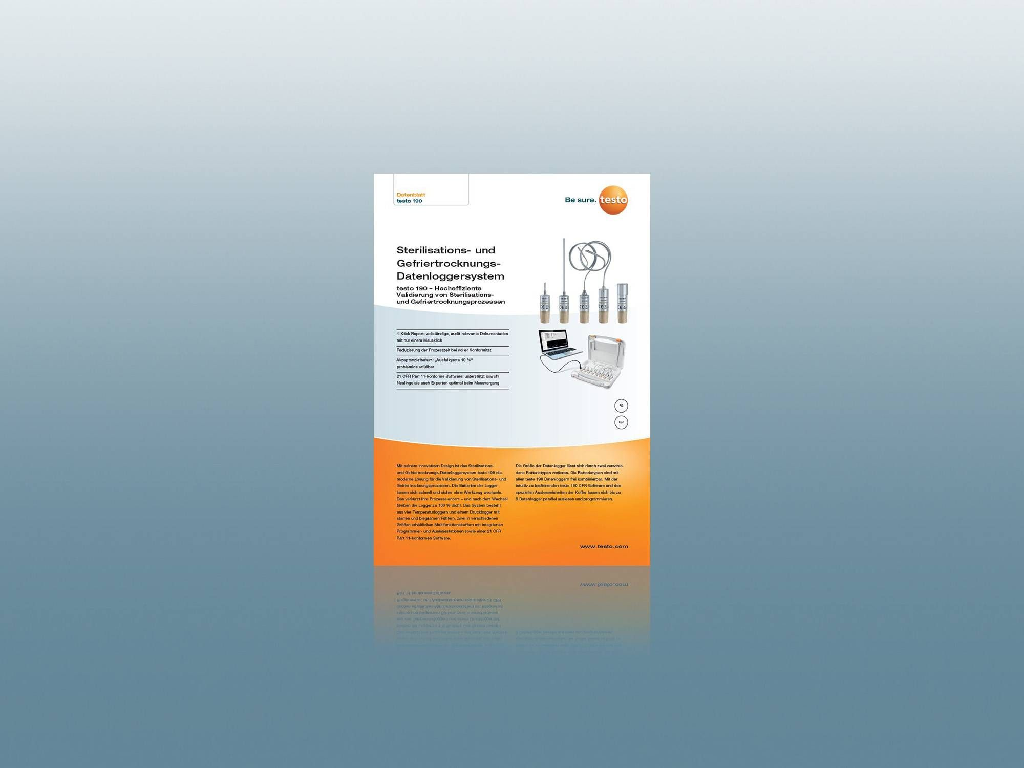 testo 190 Technisches Datenblatt als Download