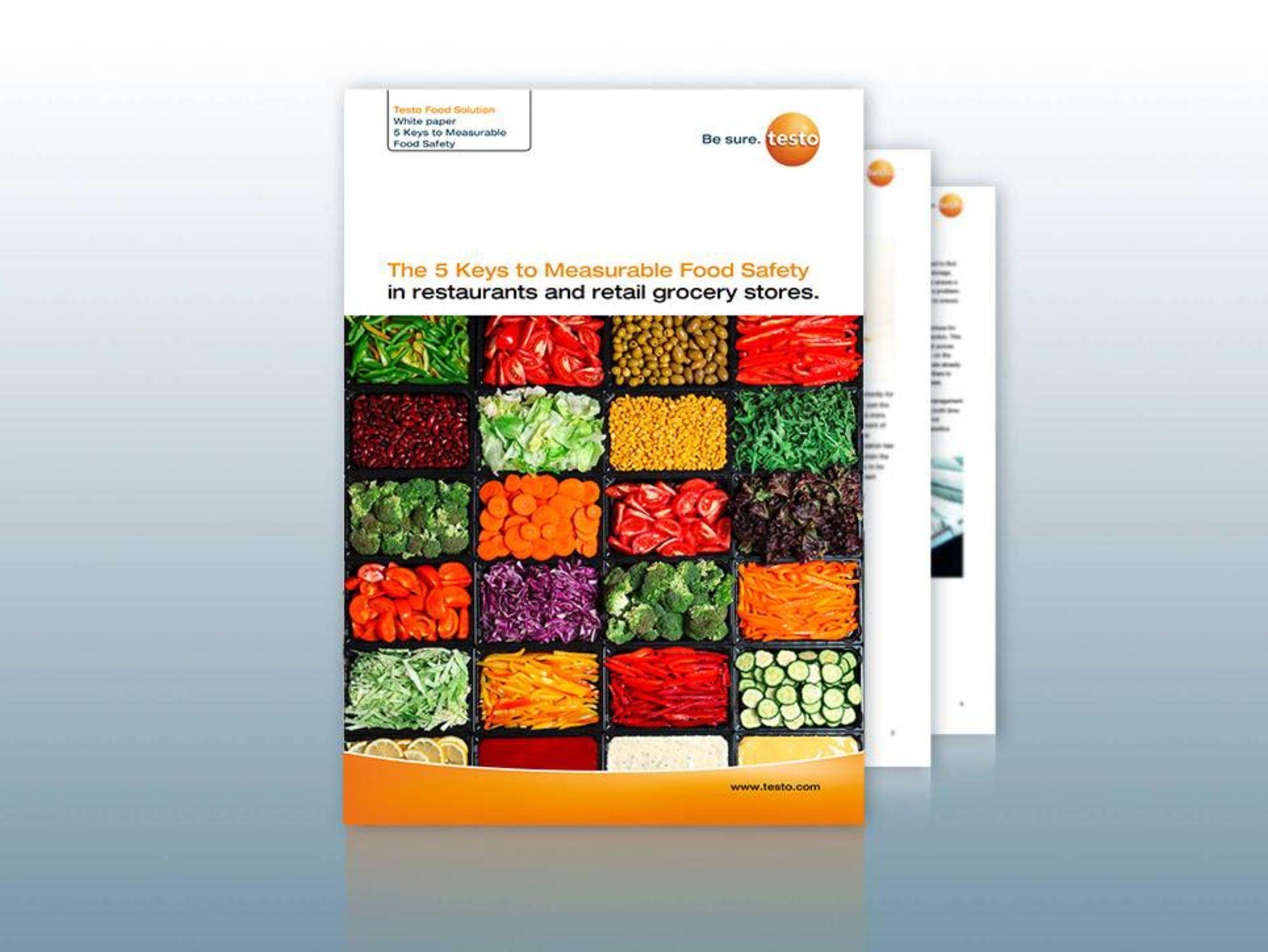 Kostenloses Whitepaper - Die 5 Schlüssel zu messbarer Lebensmittelsicherheit in Restaurants und im Einzelhandel.