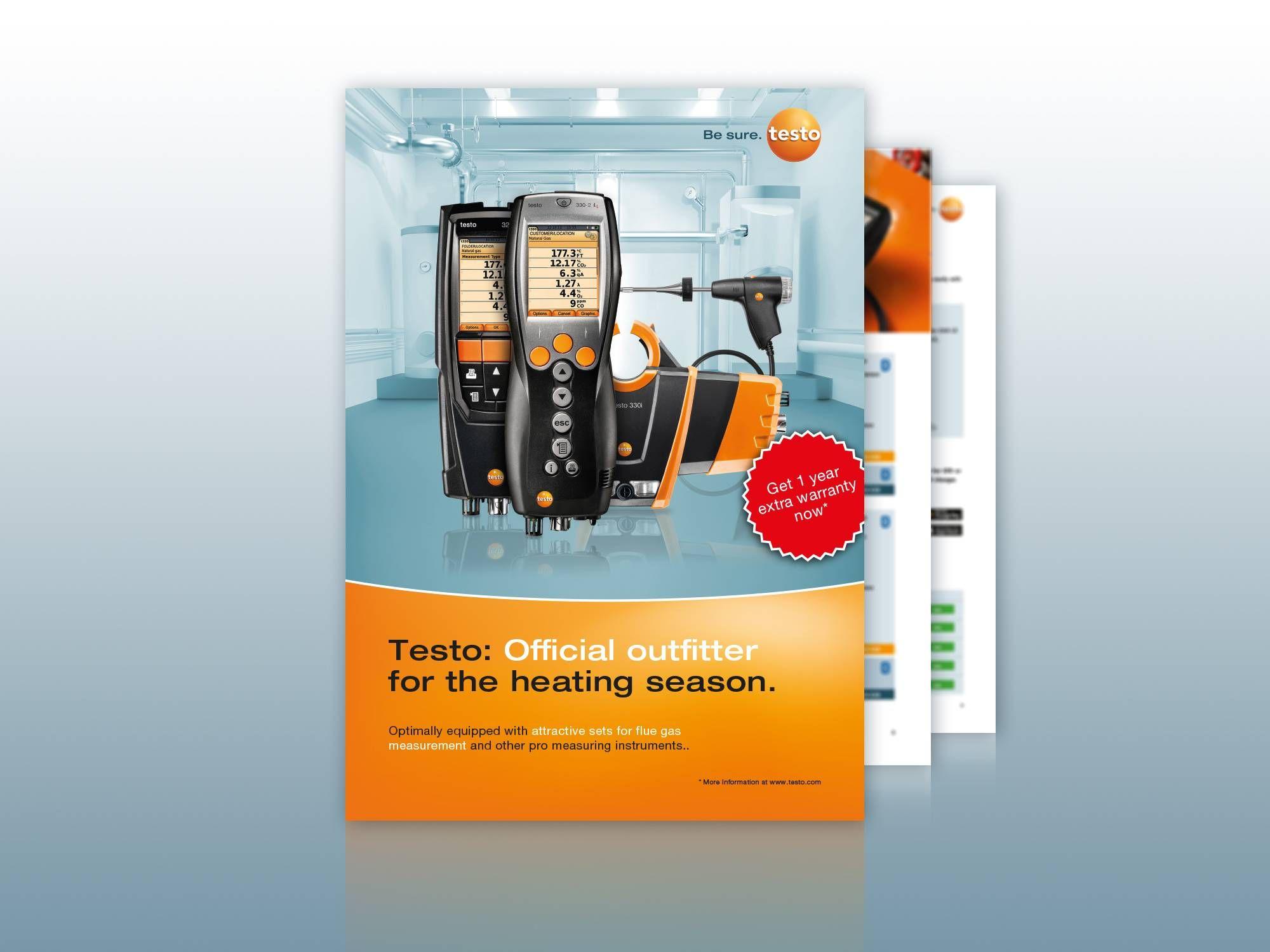 Testo flue gas kits brochure