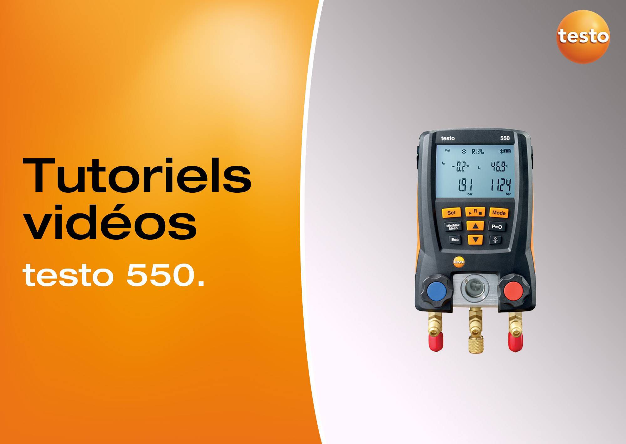 Tutoriels vidéos utilisation manomètre testo 550