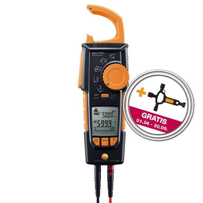 testo 770-3 Stromzange mit gratis Zugabe