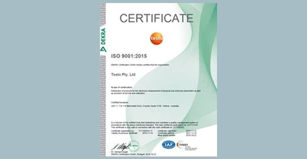 ISO Quality Certificates