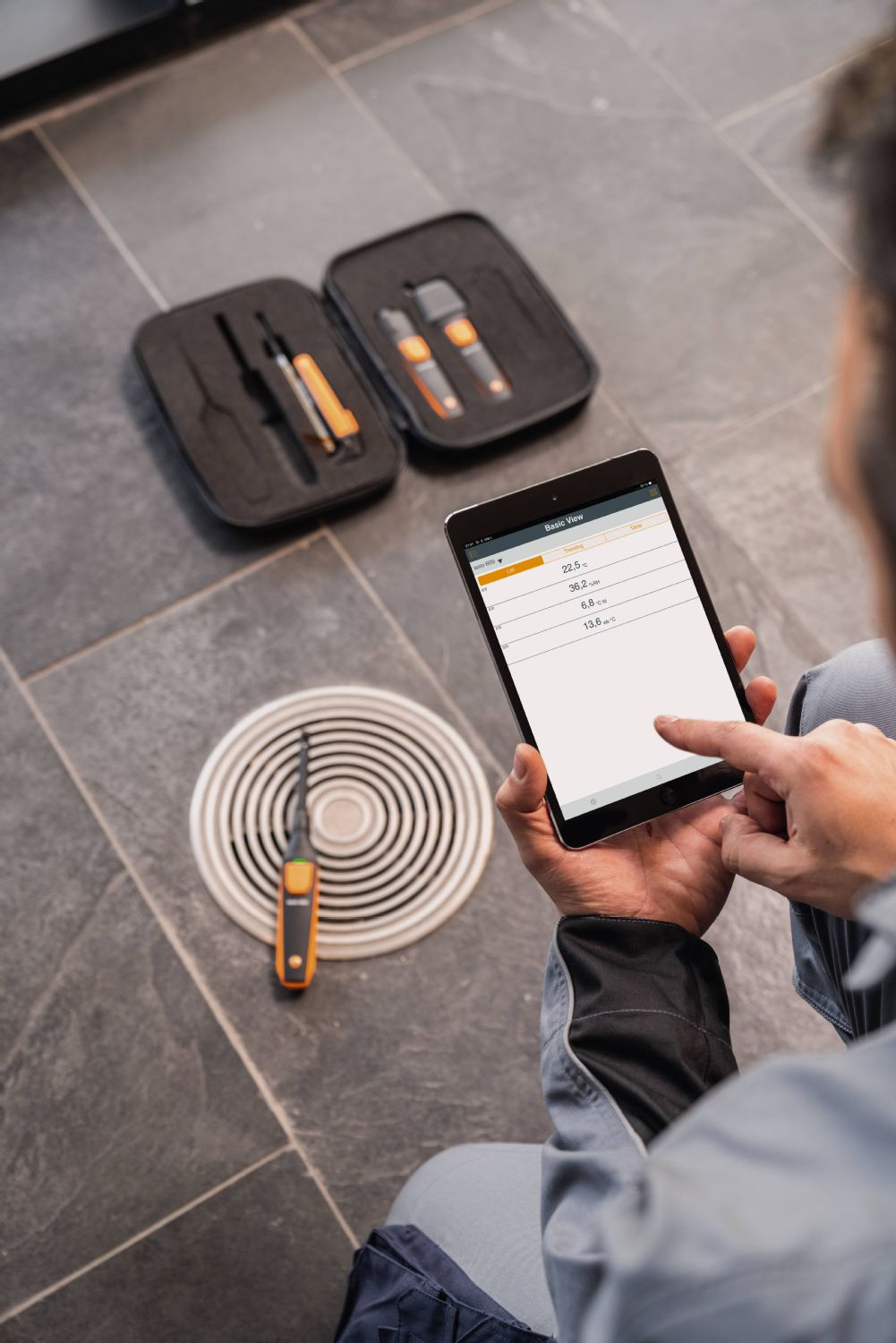 application testo Smart Probes VAC Kit