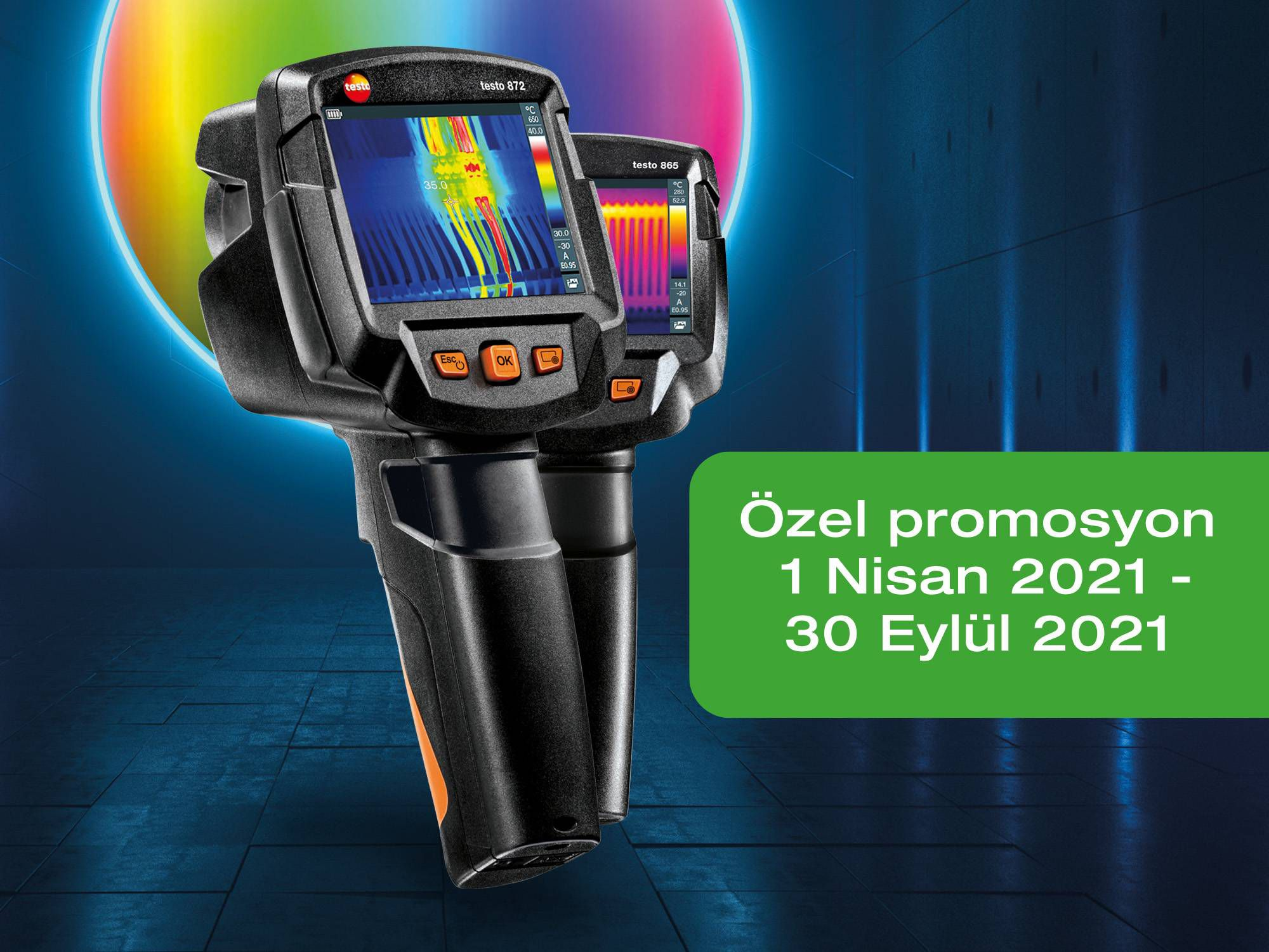 The thermal imagers testo 865, 868, 871 and 872