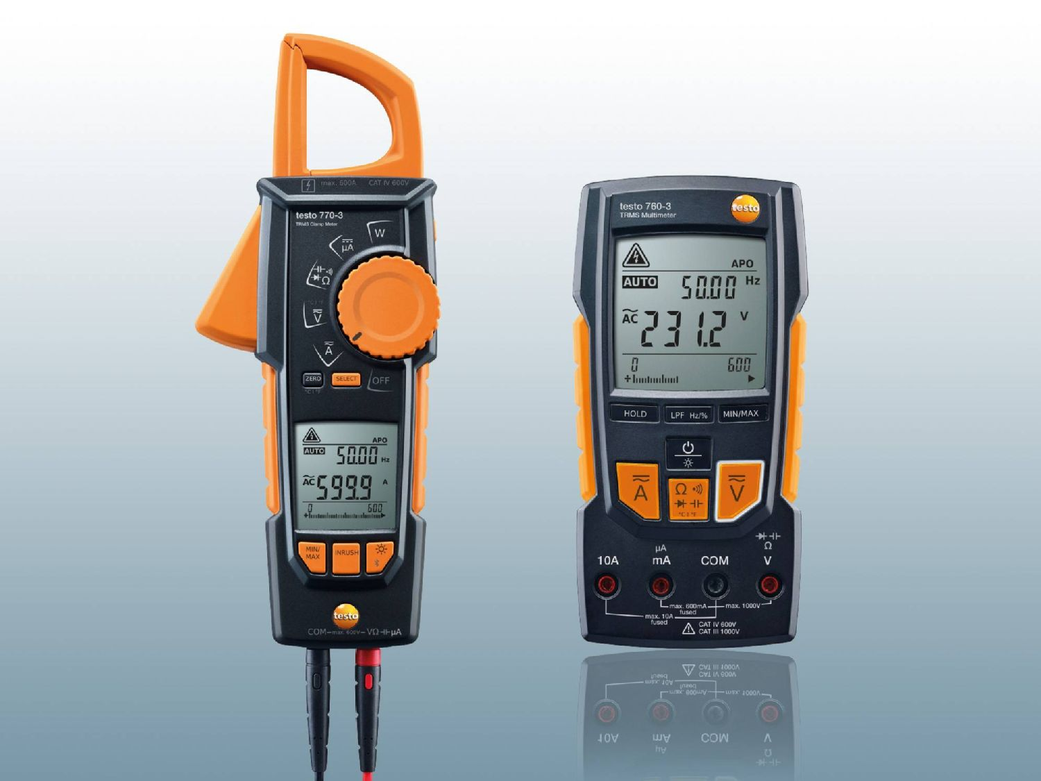 Clamp meter and multimeter