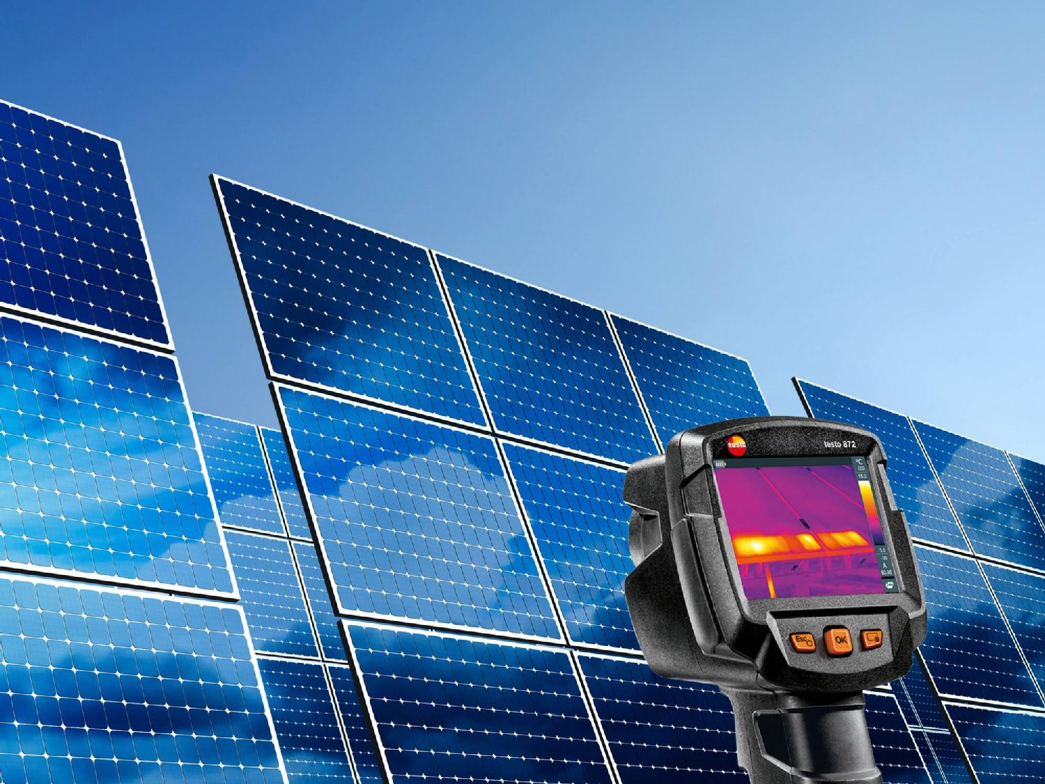 Monitoring photovoltaic systems with thermal imagers