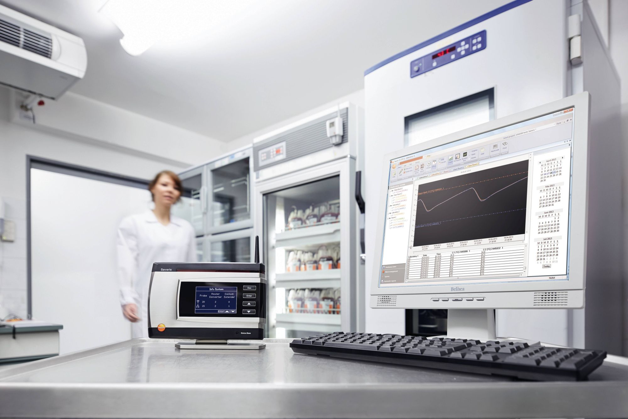 Measurement data monitoring in clinics and hospitals with testo Saveris