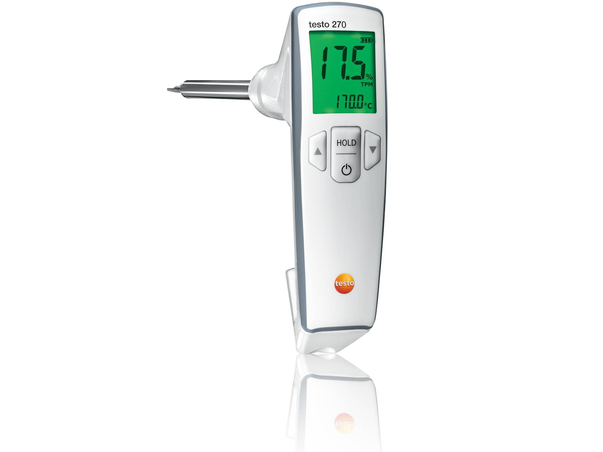 Record oil quality with the cooking oil tester testo 270