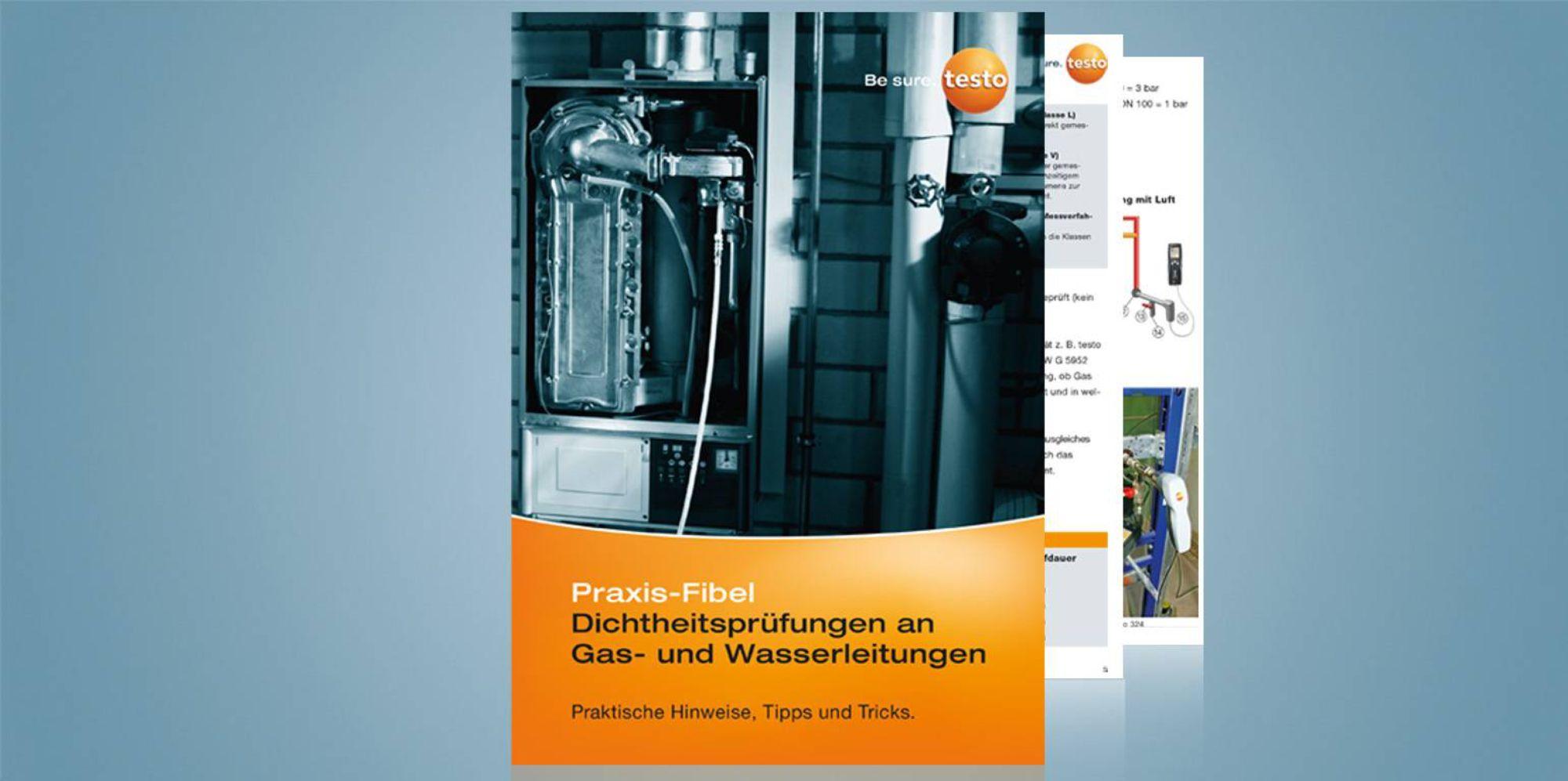 Dichtheitsprüfungen an Gas- und Wasserleitungen