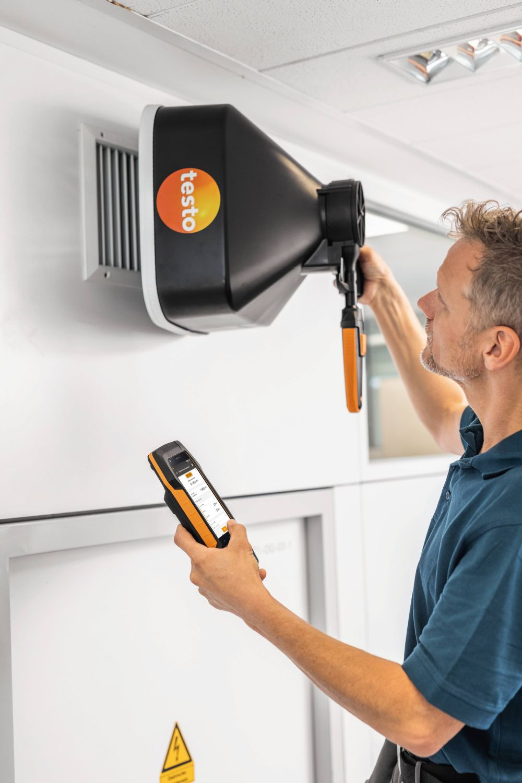 testo 400 Kit de mesure pour la ventilation avec sonde à fil chaud