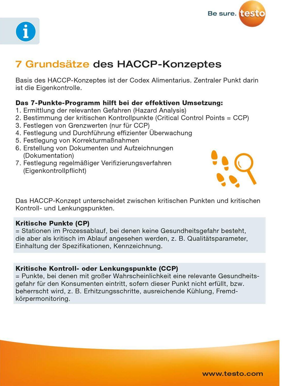 Trainingskarte - Gefahrenanalyse (HACCP) / kritische Kontrollpunkte & Messvarianten