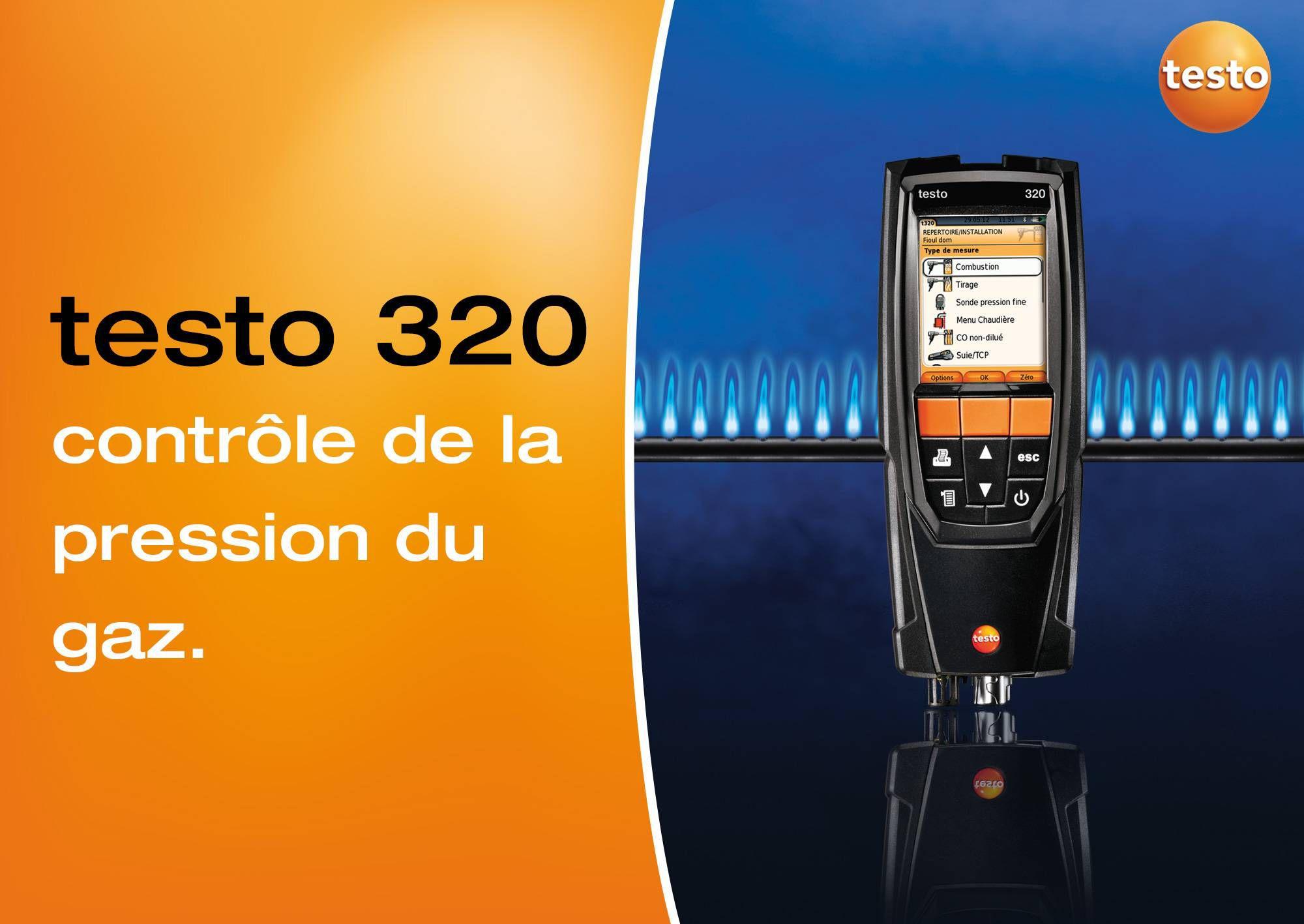 tutoriel vidéo contrôle pression gaz testo 320