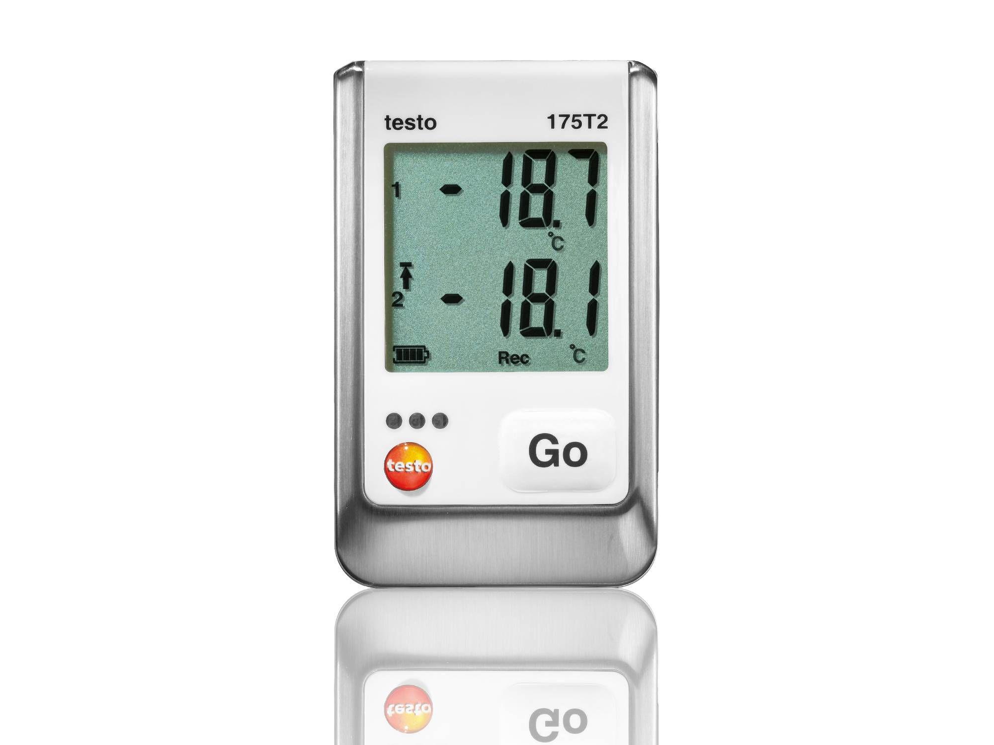 Enregistreur de données de température pour le stockage de denrées alimentaires testo 175 T2