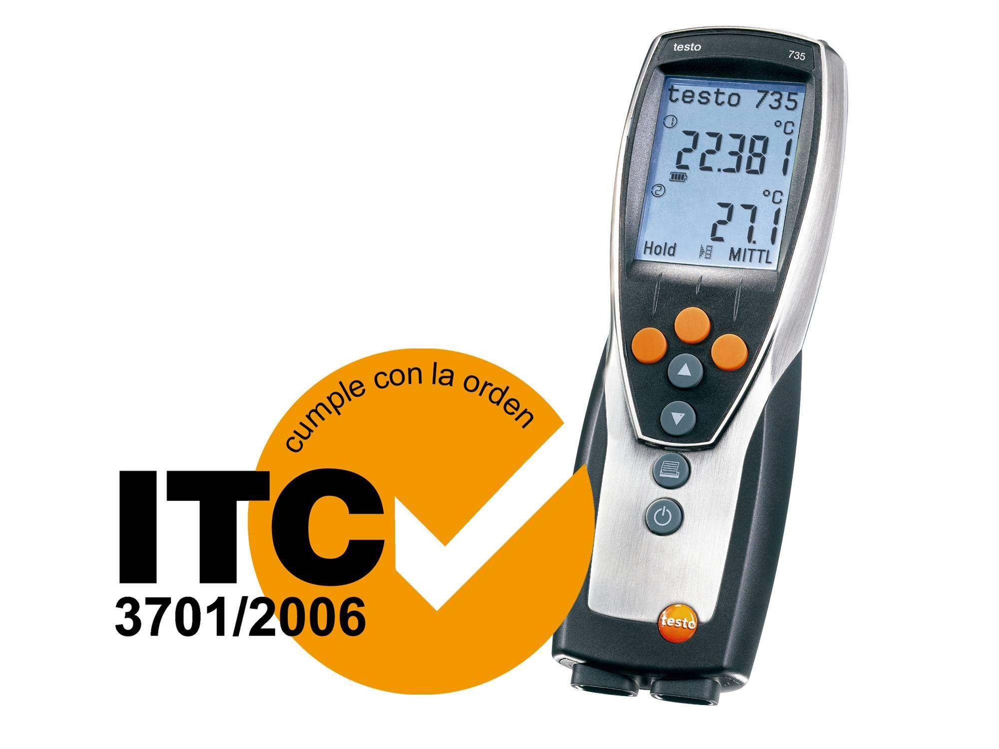 Termómetro profesional testo 735-1 con homologación ITC