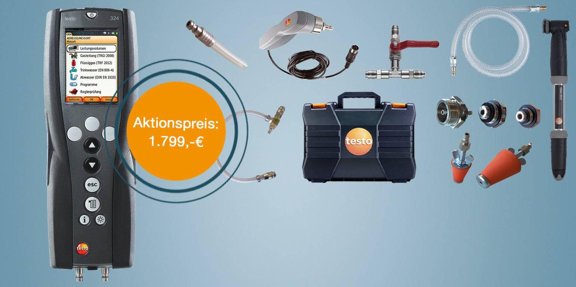 testo 324 - Gas- und Wasser-Set
