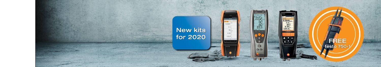 Free gift with testo flue gas analysers