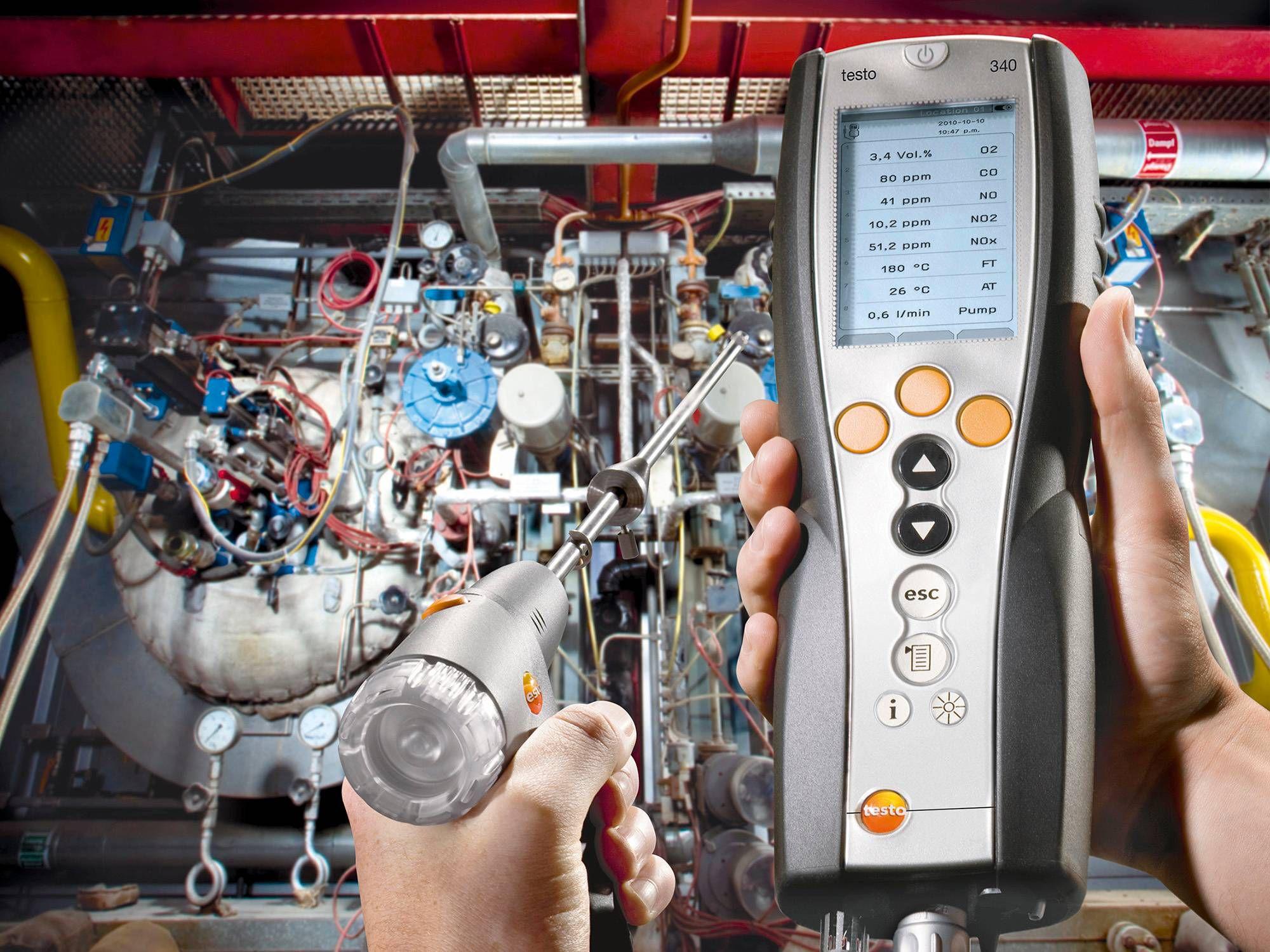 Mjerenje ispušnih plinova Testo