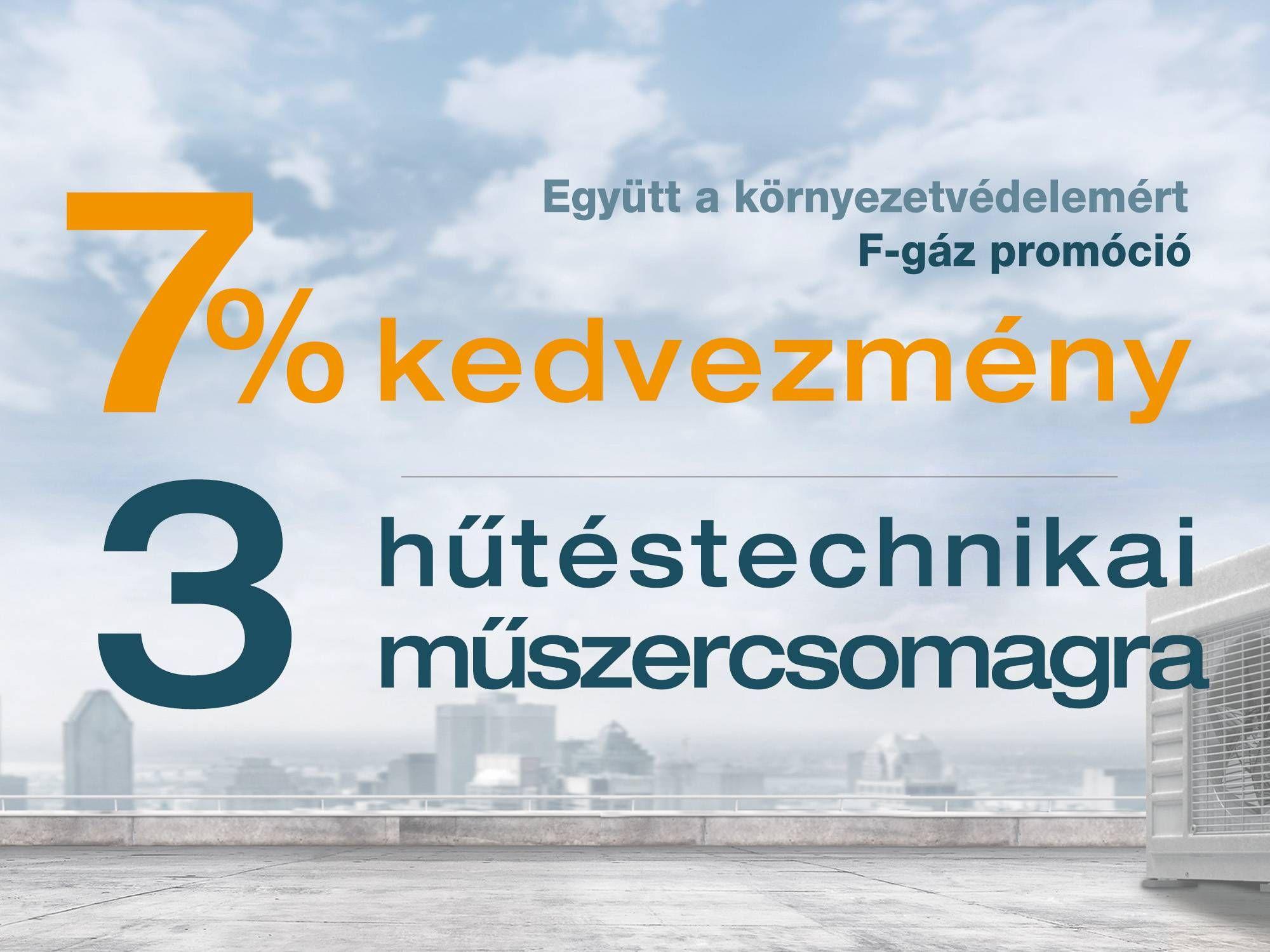 Hűtéstechnikai műszercsomagok 7% kedvezménnyel