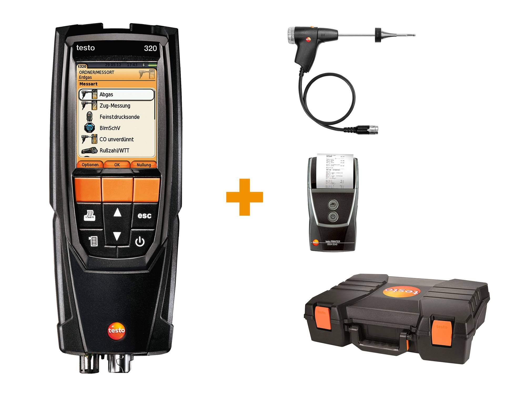 testo 320 flue gas analysis set