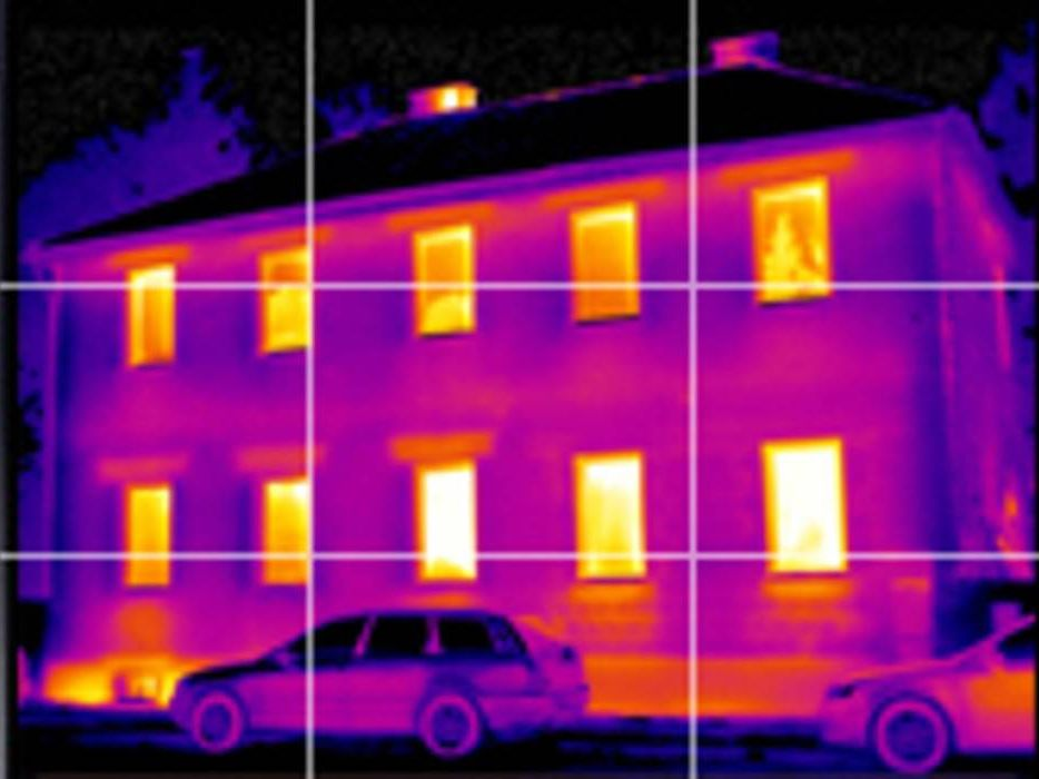 Thermal image panorama building
