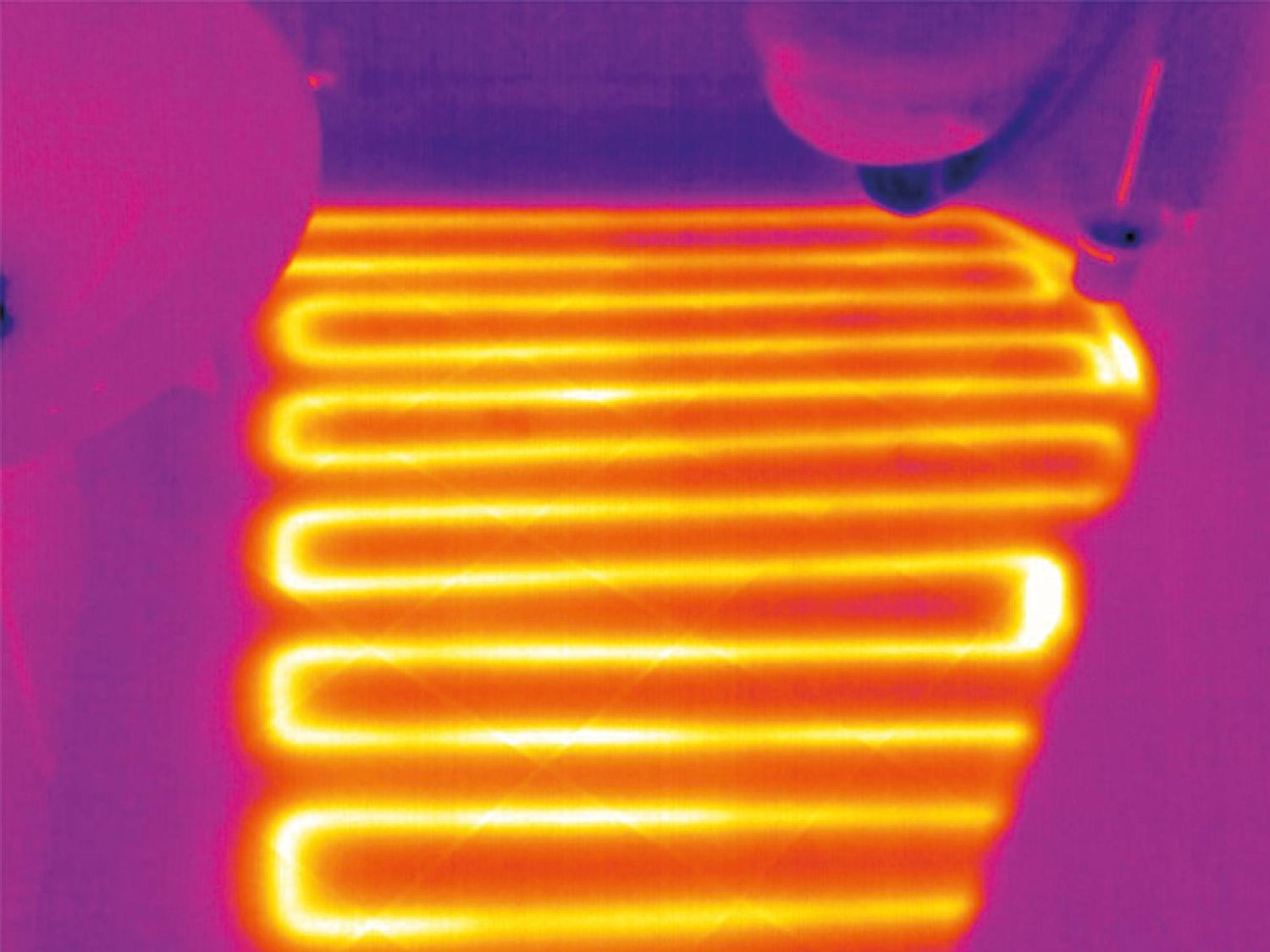 Thermal imager underfloor heating
