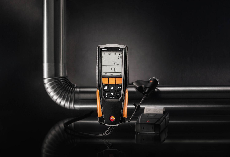 testo 310 - l'analizzatore fumi per l'installatore