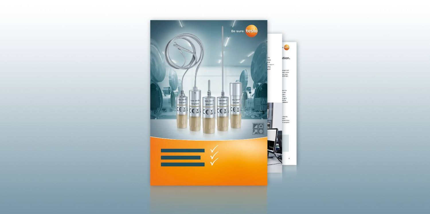 Product brochure for testo 191