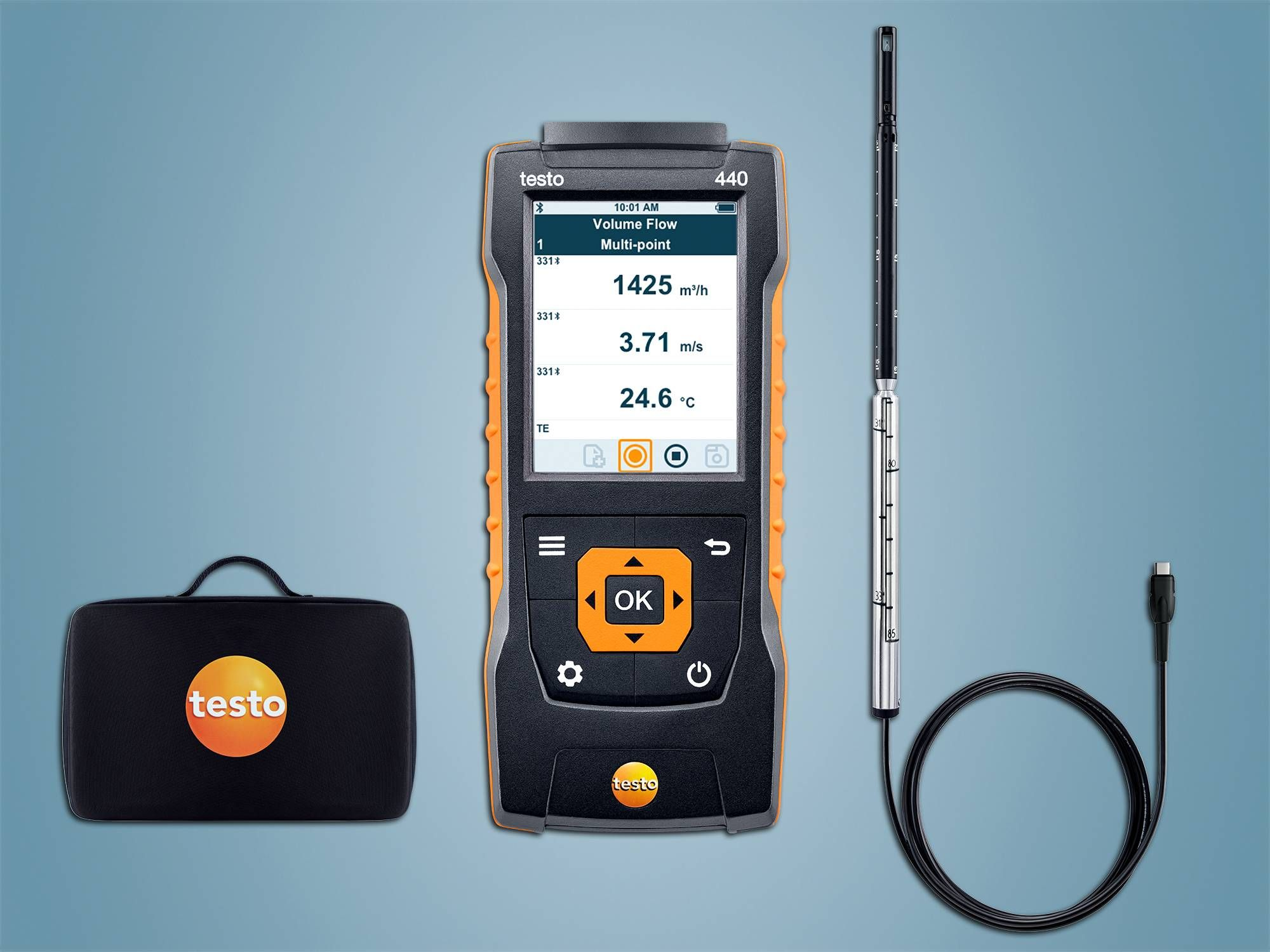 testo 440 Kit à fil chaud