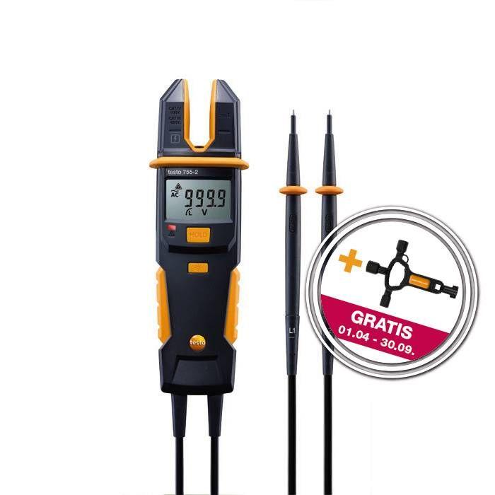 testo 755-2 Strom-Spannungsprüfer mit gratis Zugabe