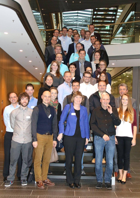 35 wvib-Nachwuchsunternehmer waren gemeinsam mit Silke von Freyberg bei Testo-Chef Burkart Knospe zu Gast.