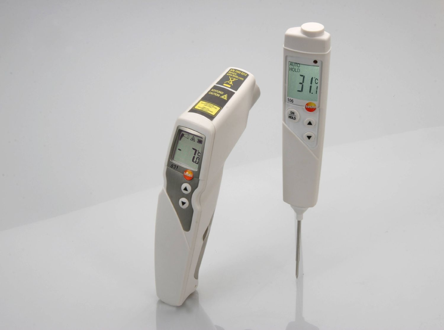 Lot thermomètre infrarouge et thermomètre de pénétration