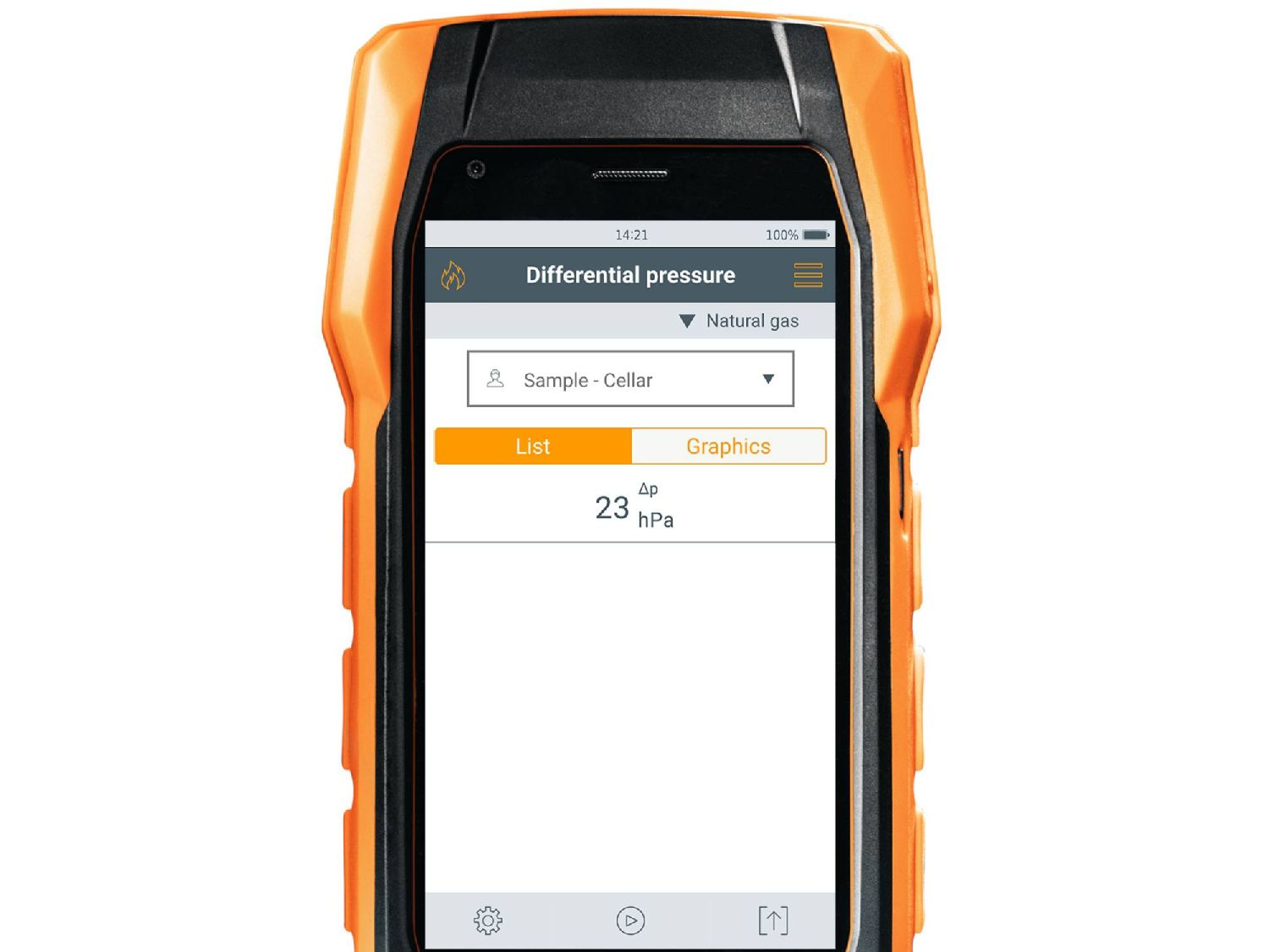 testo 300 flue gas analyzer differential pressure measurement